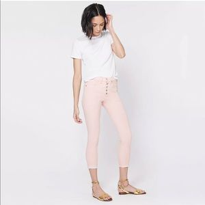 Veronica Beard pink high waisted Debbie jeans